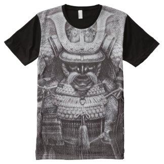 Camisetas Com Impressão Frontal Completa Arte antiga do lápis da fantasia do espírito do