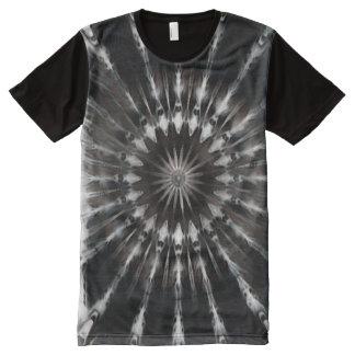 Camisetas Com Impressão Frontal Completa Arte da mandala da sombra escura