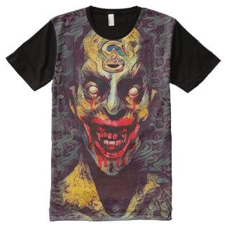 Camisetas Com Impressão Frontal Completa Arte escura do horror do vampiro assustador de