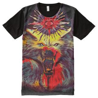 Camisetas Com Impressão Frontal Completa Arte escura oculto do horror de Magick do