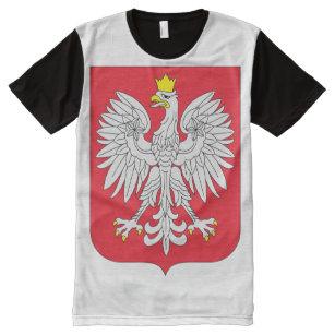 ea2022c849 Camisetas Com Impressão Frontal Completa Bandeira do Polônia