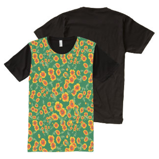 Camisetas Com Impressão Frontal Completa Explosão da papoila de Califórnia por Aleta