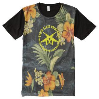 Camisetas Com Impressão Frontal Completa Hawaiian conservado em estoque do Paintball da