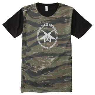 Camisetas Com Impressão Frontal Completa Listra conservada em estoque Camo do tigre do