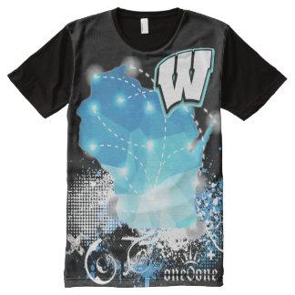 Camisetas Com Impressão Frontal Completa Orgulho do estado de Wisconsin