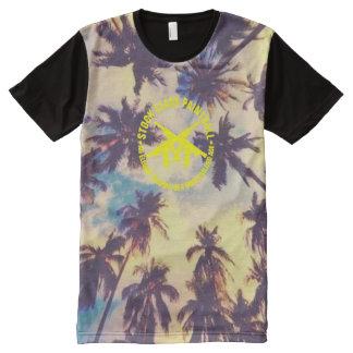 Camisetas Com Impressão Frontal Completa Palmeira conservada em estoque de Havaí do