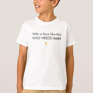 Camisetas Com uma cara goste disto que precisa o cabelo?