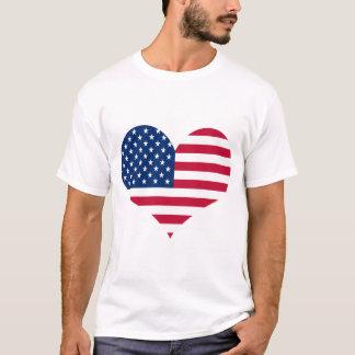 Camisetas Coração americano dos EUA da bandeira de América
