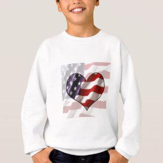 Camisetas Coração da bandeira americana
