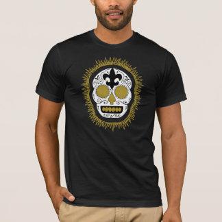 Camisetas Crânio do açúcar de Whodoo da flor de lis