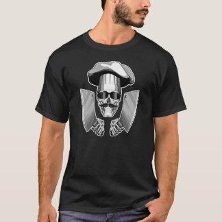 Camisetas Crânio do cozinheiro chefe: Facas de carniceiro