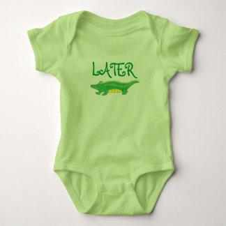 Camisetas Crocodilo mais atrasado de Croc do jacaré do