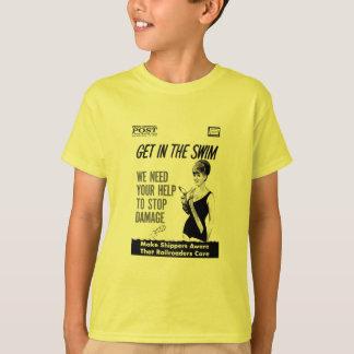 Camisetas Cuidado central dos Railroaders de Penn sobre dano