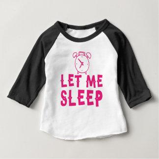 Camisetas deixe-me dormir rosa com despertador