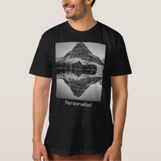 Camisetas Design da reflexão da montanha de Sinopah