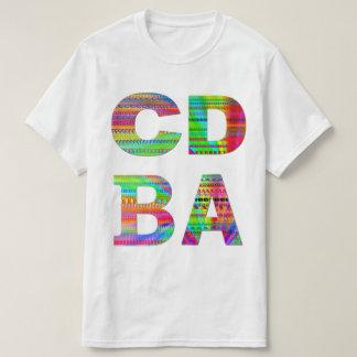 Camisetas Design do arco-íris das letras CDBA