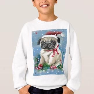 Camisetas Design do cão do Pug do feriado