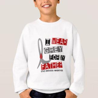Camisetas Diabetes eu visto o cinza para meu pai 37