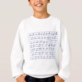 Camisetas Diagrama do alfabeto inglês na escrita Cursive
