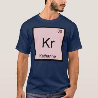 Camisetas Do elemento conhecido da química de Katharine mesa