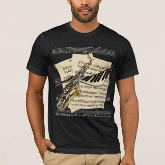 Camisetas do saxofone & da música do piano