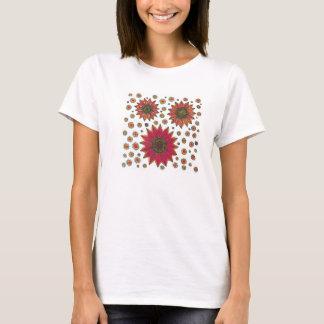 Camisetas Doodle do girassol