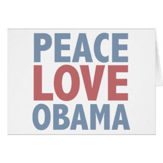 Camisetas e presentes de Obama do amor da paz Cartões
