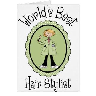 Camisetas e presentes do cabeleireiro do mundo as  cartão