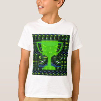Camisetas Ecologista do verde do troféu do vencedor