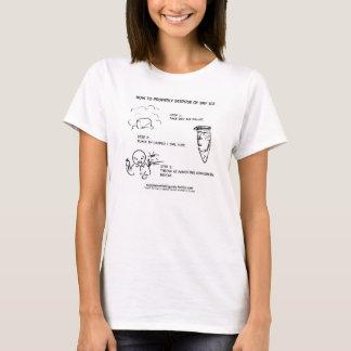 Camisetas Eliminação do gelo seco