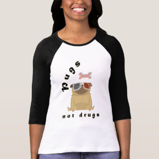 Camisetas engraçadas das drogas dos Pugs das