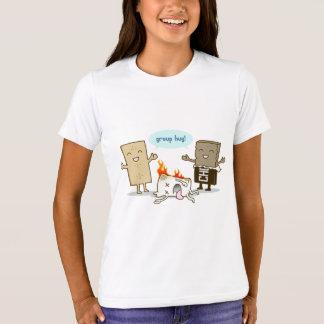 Camisetas Engraçado - abraço do grupo de S'Mores