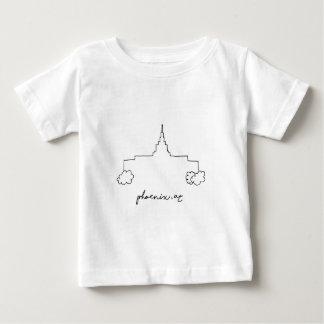 Camisetas esboço moderno simples do templo da arizona de