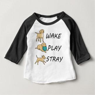 Camisetas ESTÁTICA do JOGO do ACORDAR de Labrador do cão