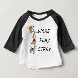 Camisetas ESTÁTICA do JOGO do ACORDAR do lebreiro do cão