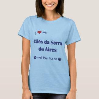 Camisetas Eu amo meu Caes a Dinamarca Serra de Aires (os
