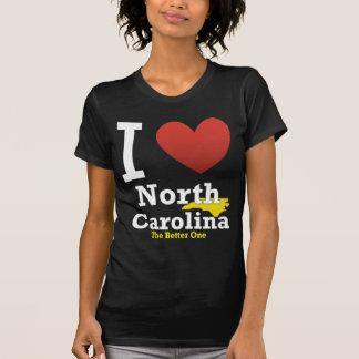 Camisetas Eu amo North Carolina