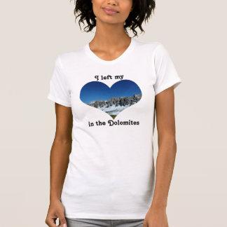 Camisetas Eu deixei minhas dolomites Italia da montanha da