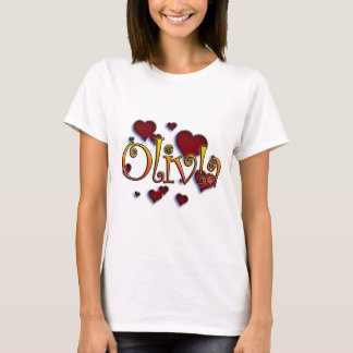 Camisetas first name Olivia with! as j