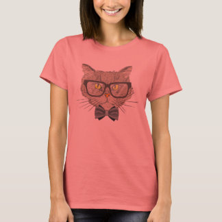 Camisetas Gato do hipster