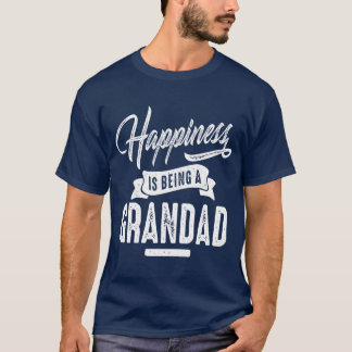 Camisetas Grandad da felicidade