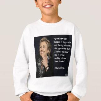 """Camisetas Hillary Clinton """"minhas citações dos pais & da"""