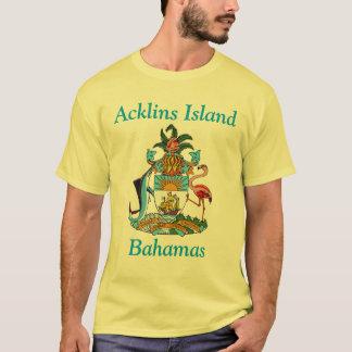 Camisetas Ilha de Acklins, Bahamas com brasão