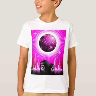 Camisetas ilustração da música com a bola do auto-falante e