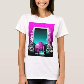Camisetas ilustração da música com auto-falante e elemento
