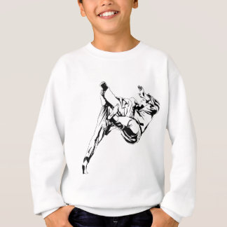 Camisetas Karaté e um judo. Técnicas dos lances