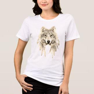 Camisetas Lobo roupa nativo no T apto relaxado do jérsei