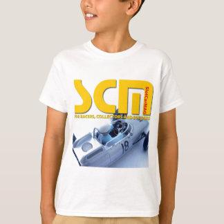 Camisetas Logotipo de Scm com o carro de entalhe de prata