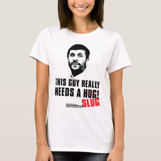 Camisetas Mahmoud Ahmadinejad precisa um abraço (nenhum