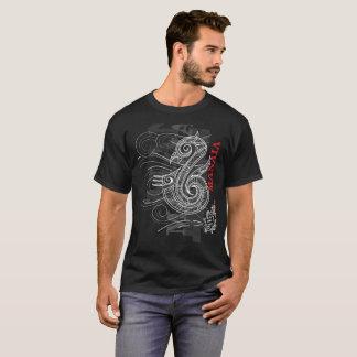 Camisetas Manaia - guardião (escrita vermelha)